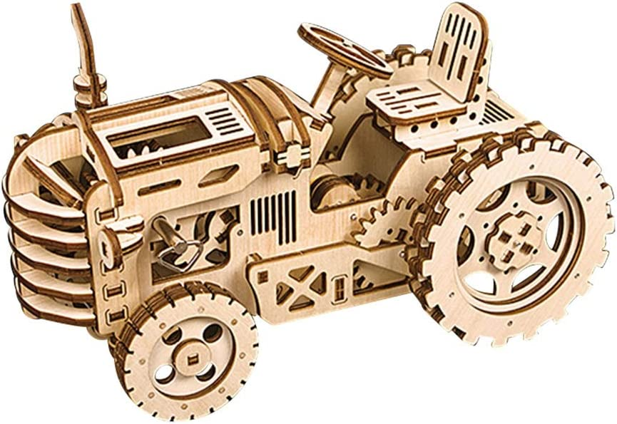 Cloudbox Wooden Fresno Mall Assembly -Tractor Puzzle DIY Mail order Cra