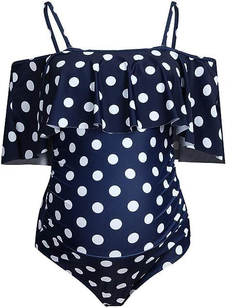 Bikinis f/ür Schwangere Umstandsbademode Umstandsbadeanzug Damen Schwangerschafts Bademode mit Shorts Set Zweiteiliger Mutterschaft Umstandsbikini