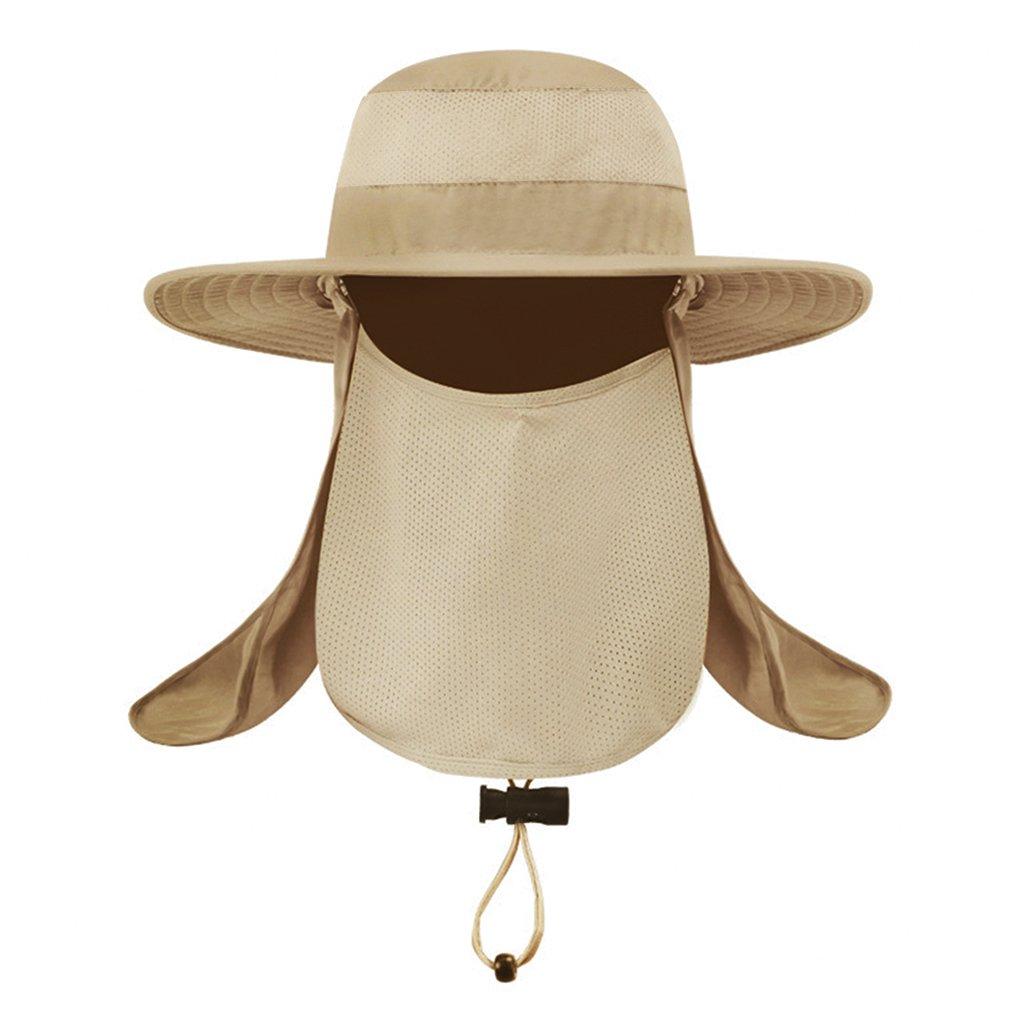 钓鱼帽,男式钓鱼帽 太阳帽 夏季 户外 * 太阳帽 男孩渔夫帽 领脸部翻盖帽 宽边 运动装 徒步狩猎园艺帽 Bush Hats Fisherman's 帽