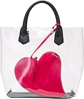 Fanspack Handbag Transparent Love Pineapple Clutch Bag Creative Shoulder Bag with Purse