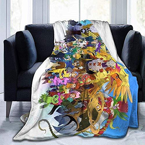 Anime Digimon Blanket Übergroße warme, superweiche Decke für Erwachsene mit weichem Anti-Pilling-Flanell für Erwachsene und Kinder 3D-Druck