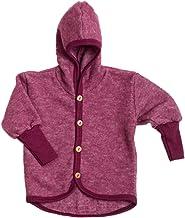 Cosilana Baby Fleece-Jacke mit Kapuze kbT Wolle Bio Baumwolle 98//104