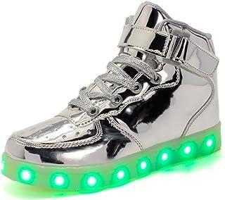 Bambino Scarpe LED Luminosi Sneakers con Le Luci Accendono Scarpe Sportive Scarpe da Ginnastica Bambino