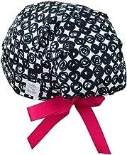 Modern Scrub Hats - Scrub Hats for Women - Surgical Scrub Hats - Ribbon Ties - SMALL - Swirl Dots