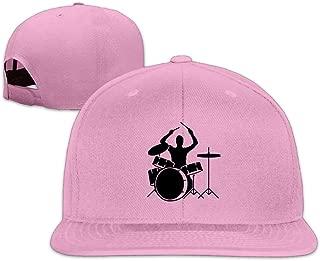 ZYXcustom Drumms & Drummer Snapback Unisex Adjustable Flat Bill Visor Hip-Hop Hat
