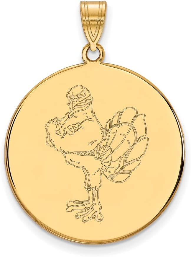 Virginia Brand Cheap Sale Venue Tech Boston Mall Extra Large 1 Gold Plated Disc Inch Pendant