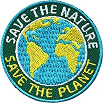 2 x Save the Nature - Save the Planet Aufnäher 5,2 cm von Club of Heroes