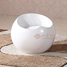 AINIYF Modern Fiberglass Stool Ball Globe Lounge Chair Contemporary Backless Office Chair for Tea Time Chat, Bussiness Com...