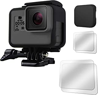 Fitstill GoPro Hero 7 /6 /5 (2018)フレームケースシェル+4個スクリーンプロテクター+シリコン保護レンズカバー