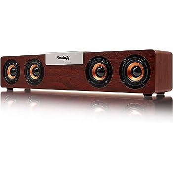 スピーカー PCスピーカー Bluetooth5.0 高音質 大音量 重低音 AUX/TFカード/USB対応 ステレオ サウンドバー (20W)