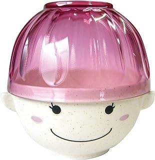 サンアート かわいい食器 「 まんぷくシリーズ こども食器(磁器と樹脂) 」 女の子 汁椀・茶碗 セット 440g SAN2331-2