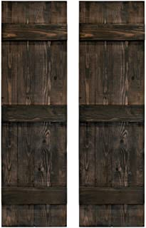 Per Pair Forest Green 028 14.75W x 47H Builders Edge  Shutters