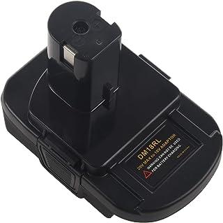 TOOGOO Dm18Rl Lithium Battery Convertor Adapter For Milwaukee Ryobi 20V/18V P108 Abp1801 Li-Ion Battery