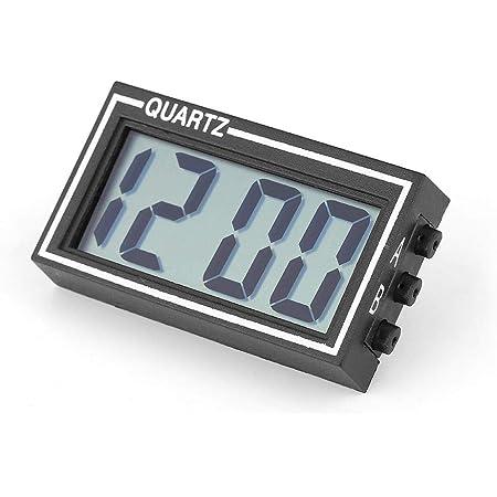 Zerone Auto Armaturenbrett Uhr Mit Lcd Display Uhrzeit Und Datum Zum Aufkleben Digitale Uhr Mit Halterung Gewerbe Industrie Wissenschaft