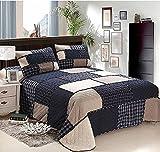 Copriletto Trapuntato 100% di Cotone Patchwork Stampata 3 pezzi insieme, un Bedspread 230*250cm e 2 federe 50*70cm