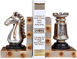 Bookends الكتفين الشطرنج الأوروبي كتفون مجموعة كتاب ينتهي لرفوف الكفوف يدعم سدادات كتاب الزخرفية الثقيلة للكتب Book Stand