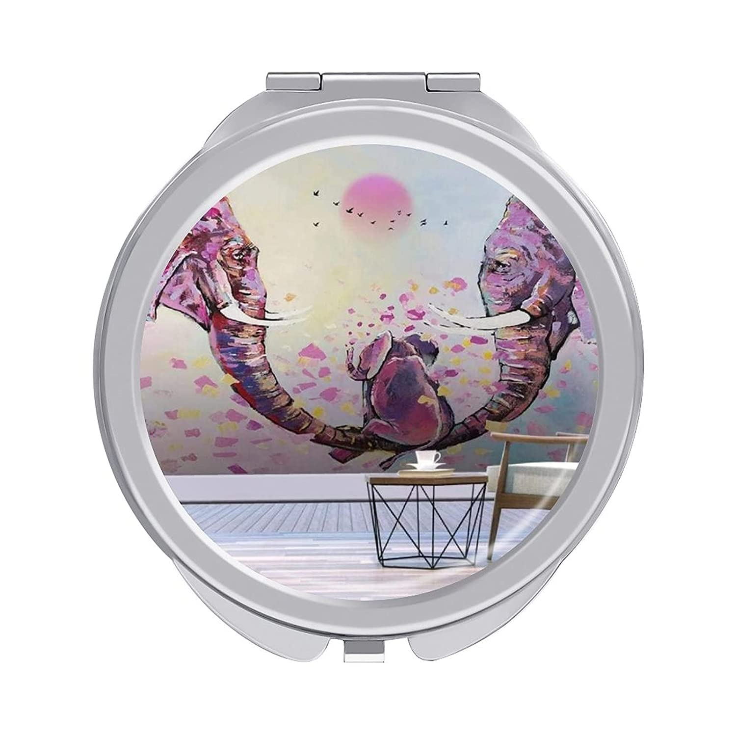 Compact Makeup Mirror for Mom Elephant 2x Kansas City Mall Ma Dealing full price reduction Outdoor Painting 1x