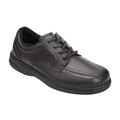 b93d55e155 Orthofeet 465 Men's Comfort Diabetic Therapeutic Extra Depth Shoe Black 13  Medium (D) Lace