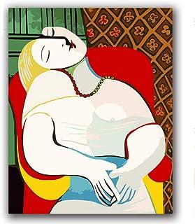 DIY Malt nach Zahlen abstrakte Figur Färbung Malen der Nummer Nummer Nummer mit Lackfarben auf Leinwand 70x90cm B07PNFWMS6  Helle Farben 242785