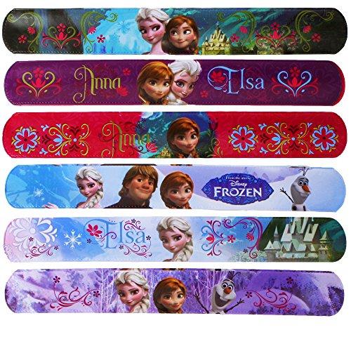 6 differenti congelati snap schiaffo bande ghiaccio regina braccialetto motivo: sorelle sempre anna elsa disney