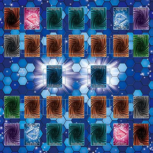 遊戯王 新マスタールール プレイマット 全面縫製仕様 ラバープレイマット 滑り止め 60×60cm