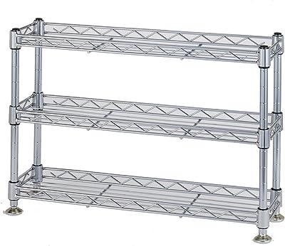 ルミナス スーパーライトシリーズ キッチンラック 防サビ ポール径12.7mm ミニラック 3段 幅45.5×奥行12.5×高さ31.5cm WA4530-3