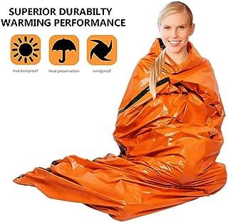 WELIO Emergency Sleeping Bag Lightweight, 100% Waterproof Thermal Emergency Blanket, Outdoor, Travel, Camping, etc. Orange.