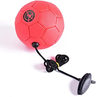 Football Kick Trainer Soccer Training Aids Hands Free Throw Sole Practice No. 2 Withpullfoot Children'S Small Football Children'S Primary School Football Training Ball Red Non-Removable