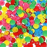 Toaab 150 conjuntos de botones a presión T5 a presión plásticos multicolor resina colores 12 mm para accesorios costura ropa DIY Craft Scrapbook