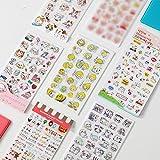 BLOUR 6 unids/Set de Pegatinas para niños, álbum de Recortes, Diario, decoración de Libros, Pasta, Suministros Escolares, álbum de Fotos, Etiquetas de Animales Bonitos, Pegatina para niños