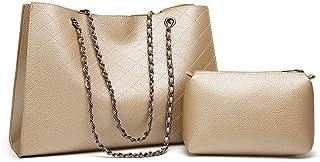 Shoulder Bag Hobos & Shoulder Bags Totes Shoulder Bag Lingge Big Bag Ms. Bag Dual-use Mother Bag Chain Bag Handbag Clutch (Color : Gold)