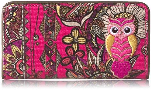 Sakroots Women's Slim Wallet, Fuchsia Spirit Desert, One Size