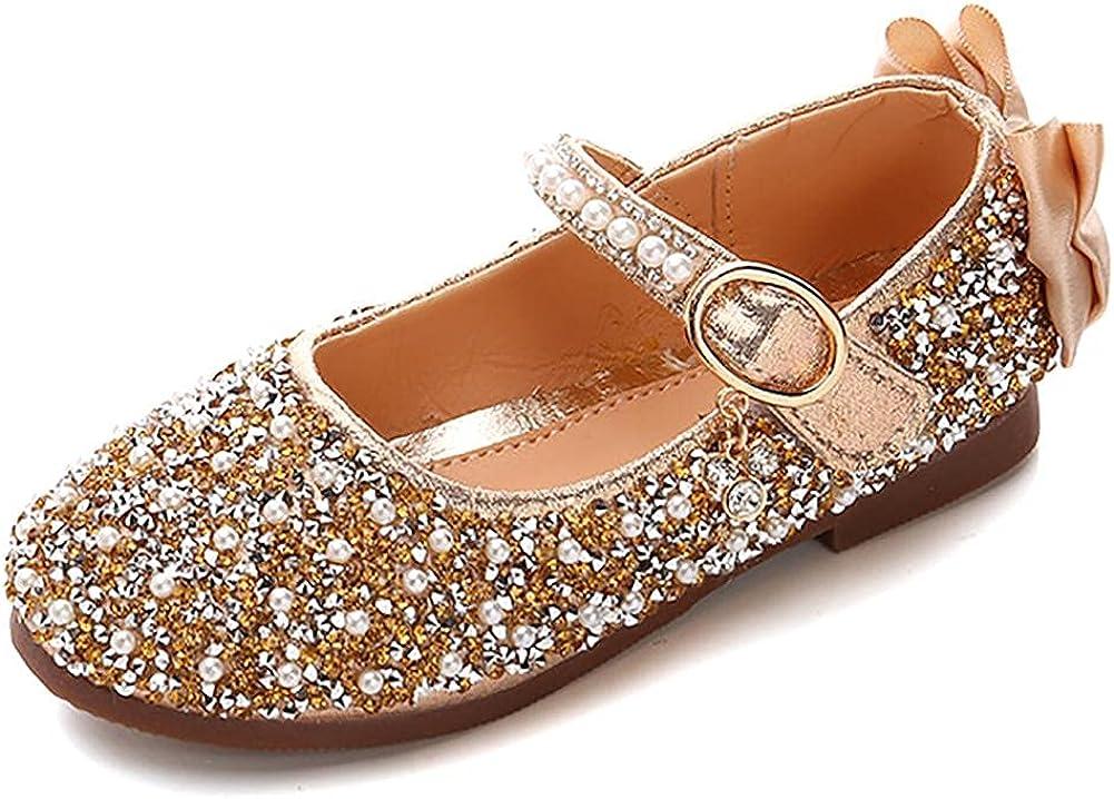 Stylein Girls Rhinestone Bargain Mary Jane Princess Wedding Flat Bowknot Today's only