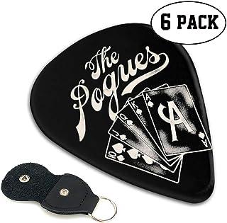 POGUES ポーグス ACE ギターピック オシャレ ベース、カポタスト ギター、カポ アコースティックギター、ウクレレ、エレキギター用 ピック トライアングル 6枚セット プレゼント