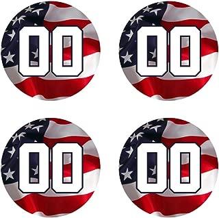 Custom Baseball Bat Decal Set - USA American Flag Design Bat Knob Sticker