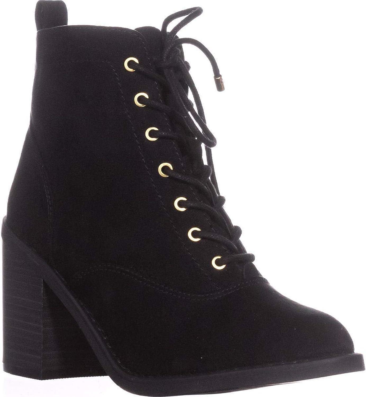 Material Girl kvinnor Landry Almond Toe Ankle Ankle Ankle Mode stövlar, svart, Storlek 11.0  bekväm
