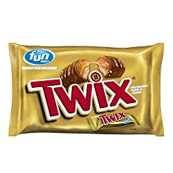 TWIX Fun Size Caramel and Chocolate Cookie Bar Candy, 10.83 Ounce