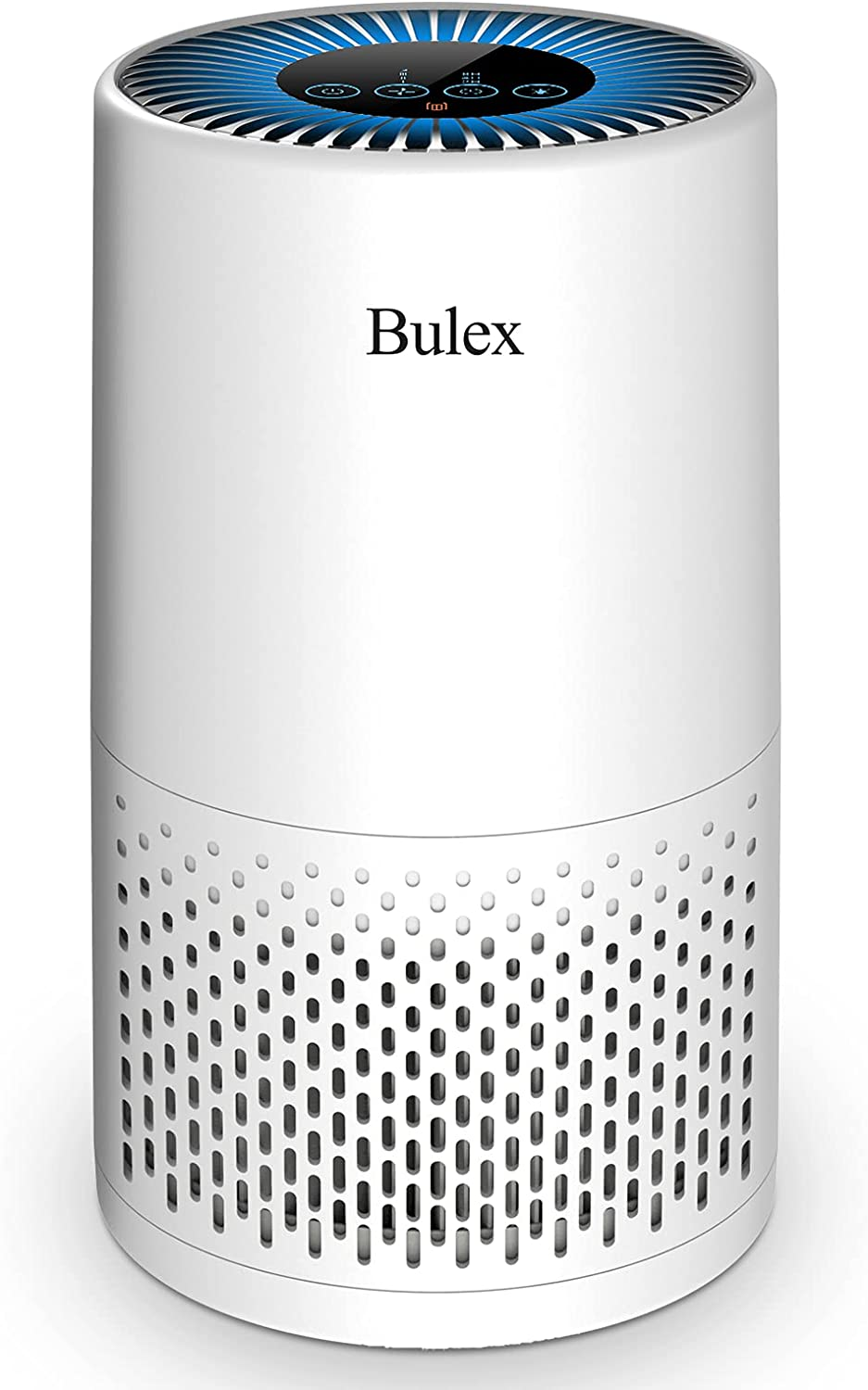 Bulex Air Purifier with H13 True HEPA Filter, HEPA Air Purifier Up to 404 ft², 4-Stage Filtration and Purification for Bedroom Home Office, Nightlight Sleep Mode, White (Available for California)
