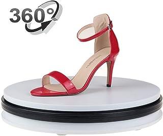 Yuanj Motorized Turntable Display, 360 Degree Electric Rotating Display Turntable for Display Jewelry, Watch, Digital Prod...