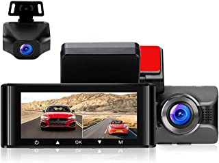 WonVon 4K Dash Cam for Car Front Dashboard Camera and 1080P Rear Dashcam, WiFi Driving Recorder with 3.16'' IPS Screen Night Vision GPS Parking Mode G-Sensor WDR Loop Recording Super Capacitor