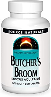 Source Naturals Butcher's Broom Dietary Supplement - Ruscus Aculeatus - 250 Tablets