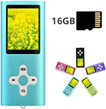 MP3 Player MP4 Player with a 16GB Micro SD Card, Runying Portable Music Player Support up to 64GB, Mini USB Port 1.8 LCD, with Photo Viewer, E-Book Reader, Voice Recorder & FM Radio Video (Blue)