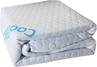 Cooling Technology Mattress Protector (King), Cool to The Touch, 100% Waterproof, Fitted Sheet Style, Hypoallergenic, Suitable for All Mattress Types