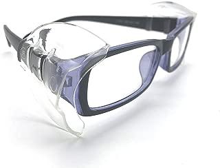 Safety Glasses Side Shields Medium(2 Pairs),Slip on Clear Side Shields,Fits Small to Medium Eyeglasses Frames
