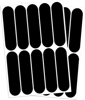 B REFLECTIVE, (2 Pack) 10 retro reflective stickers kit, Night visibility safety, Universal adhesive for Bike/Stroller/Buggy/Helmet/motorbike/Scooter/Toys, 7 x 1,8 cm, Black