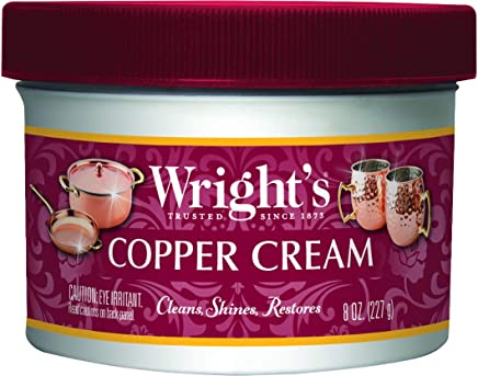 Wrights Copper Cream - Gently Clean and Remove Tarnish Without Scratching ...