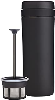 Espro Travel Coffee Press, Stainless Steel, 12 oz (Matte Black)