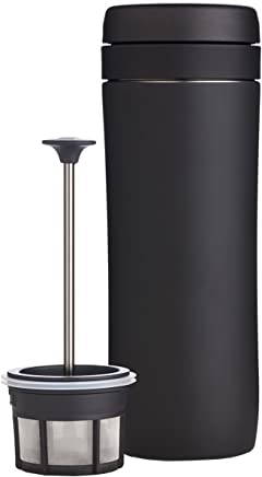 Espro Travel Coffee Press, Stainless Steel, 12 oz with Coffee Filter 12 oz. Matte Black