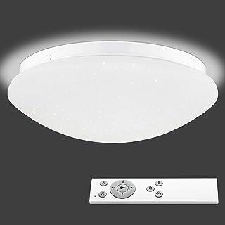 Navaris Lámpara LED de Techo Regulable - Iluminación Redonda Ø 29 CM con bajo Consumo Mando a Distancia y Cambio de Temperatura de Color - Blanco