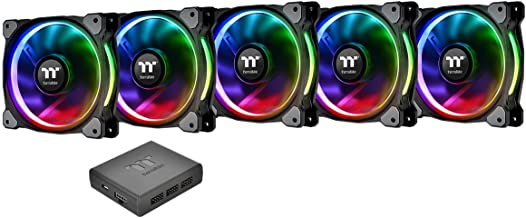 Thermaltake CL-F057-PL14SW-A Riing Plus 14 LED RGB Radiator Fan - Black (Pack of 5)